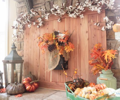 Candy-Coated Halloween Party Mix Recipe Mantels, Fall harvest