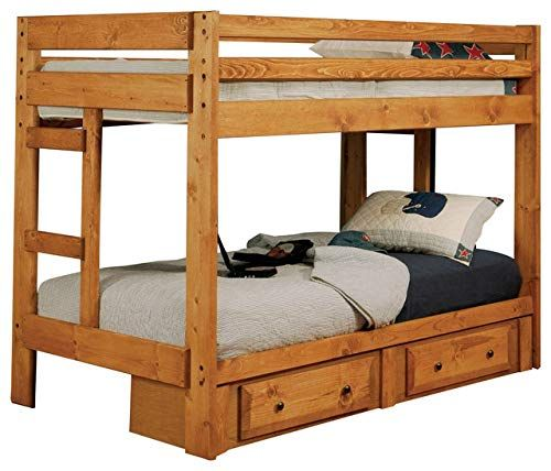 Hulaloveshop Vintage Unique Custom Wood Twin Bunk Bed W