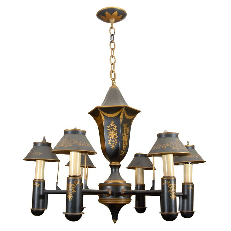 Black Tole Chandelier - Black Tole Chandelier Chandeliers, Pendant Lighting And Modern