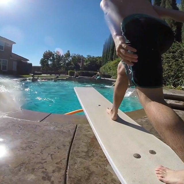 Jump in. Get wet. Have fun. #GoPro #onedirection #poolside #kissyou  @drew_knife @zacharydonald_ @jaycharlesiv by jordanjavellana
