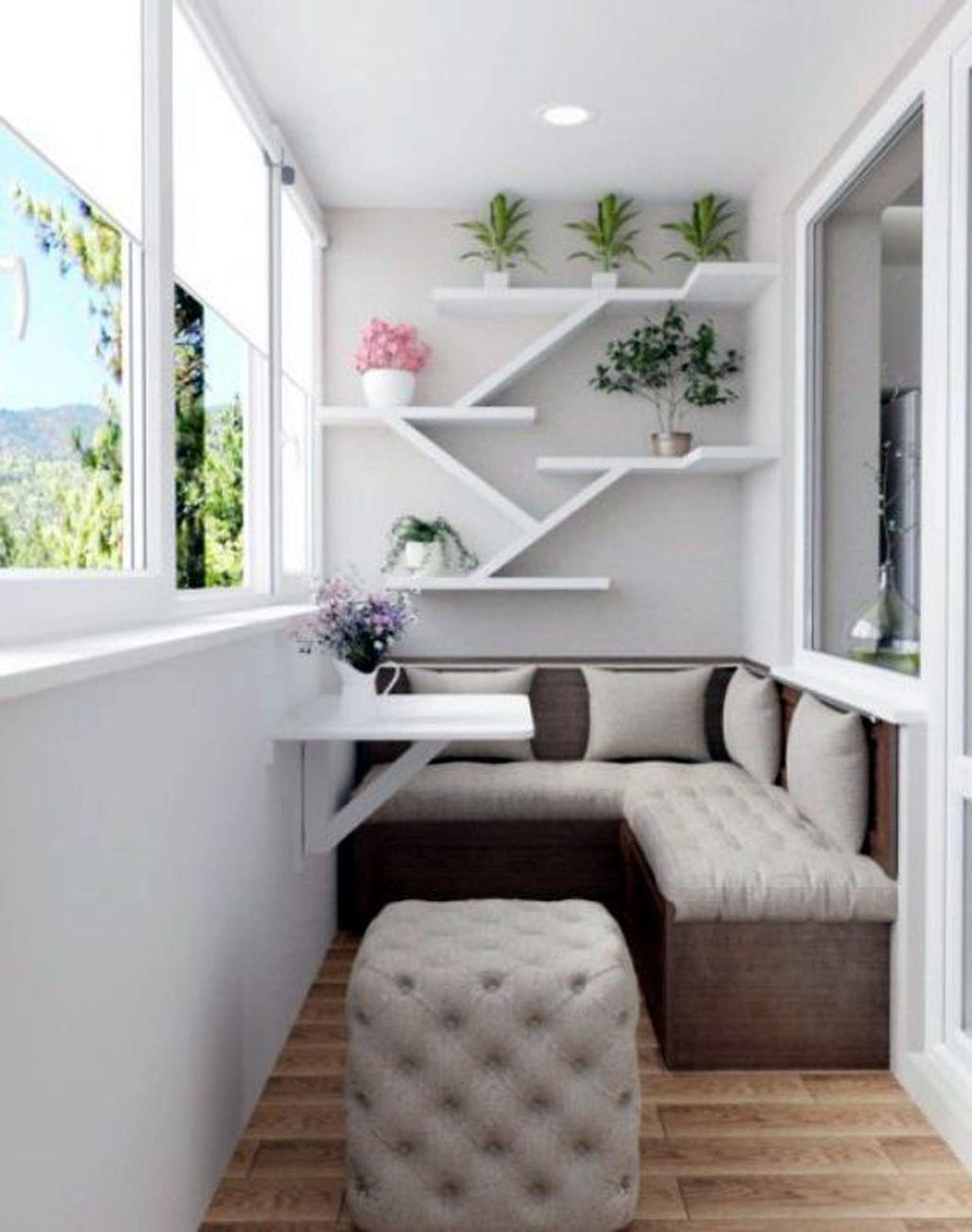 17 Elegant Balcony Decoration Ideas  Living room decor apartment
