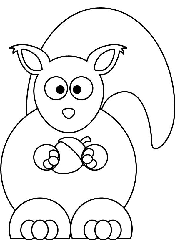 squirrel.jpg (595×842) | rajzocska | Pinterest