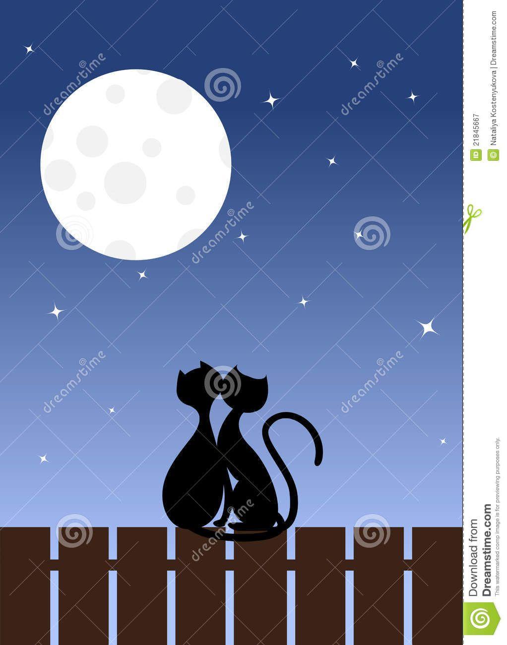 Siluetas De Gatos Enamorados Buscar Con Google Siluetas