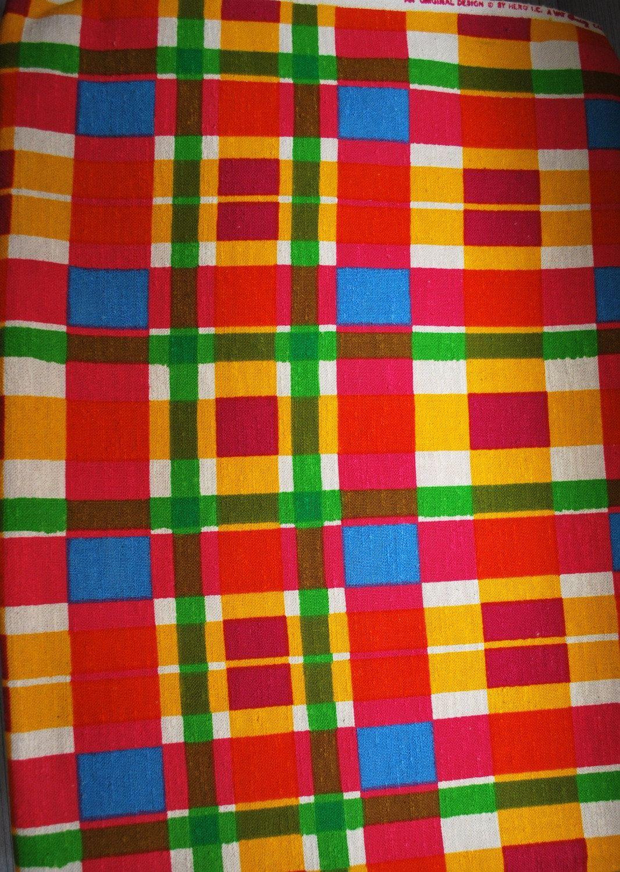 Mid Century Modern Plaid Upholstery Fabric on Bolt Mod ...