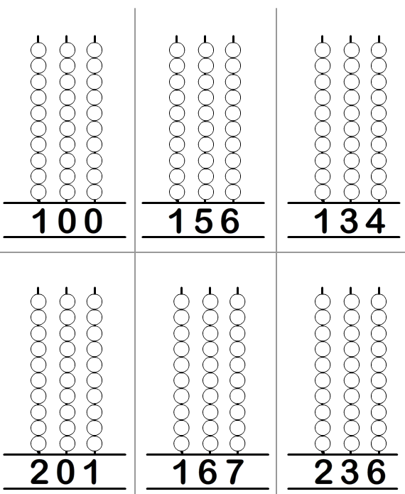 3 Digit Abacus Maths Worksheet | Maths home school | Pinterest ...