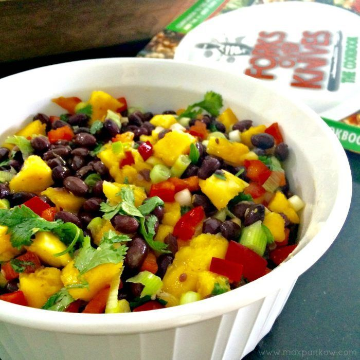 Mango Black Bean Salad Healthy work snacks, Plant based