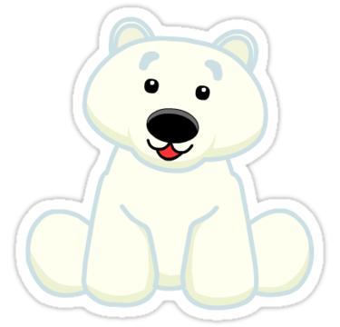 Polar Bear Sticker By Onetrackmind Polar Bear Cartoon Kids Stickers Polar Bear