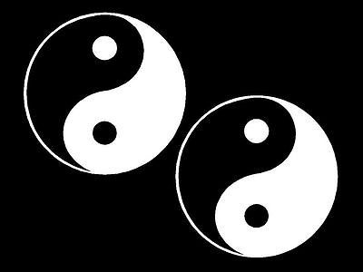 Yin Yang Vinyl  Automotive Decal Stickers Car Decals
