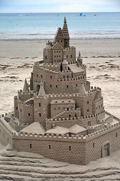 Now that's a sand castle!