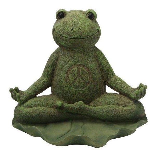 Garden Statues Liked On Polyvore Featuring Home Outdoors Outdoor Decor Garden Statuary Buddha Frog Statue Yoga Statues Frog S Yoga Patio Decor Tuintips