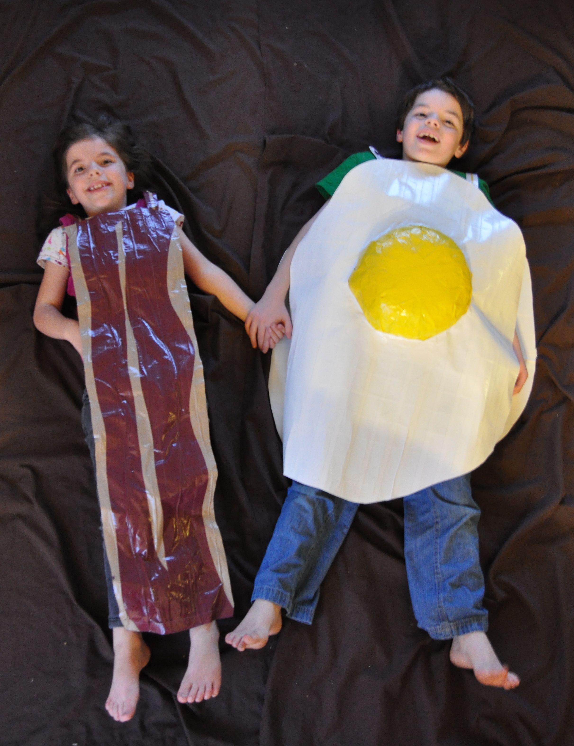 Bacon and Eggs Costume Breakfast Buddies Fancy Dress Couples Novelty Food Outfit