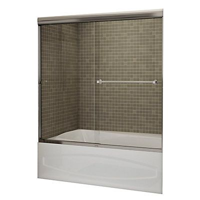 Revamp your bathroom with the MAAX Noble 2-panel frameless tub door ...