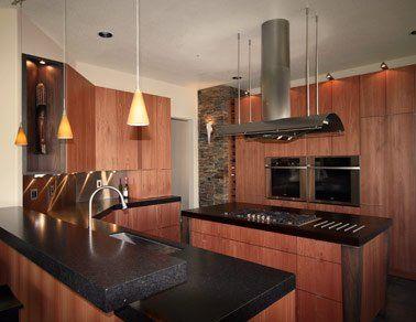 Slab Kitchen Cabinet Doors | Custom Kitchen Cabinets   Lyptus Wood, Slab  Veneer Door