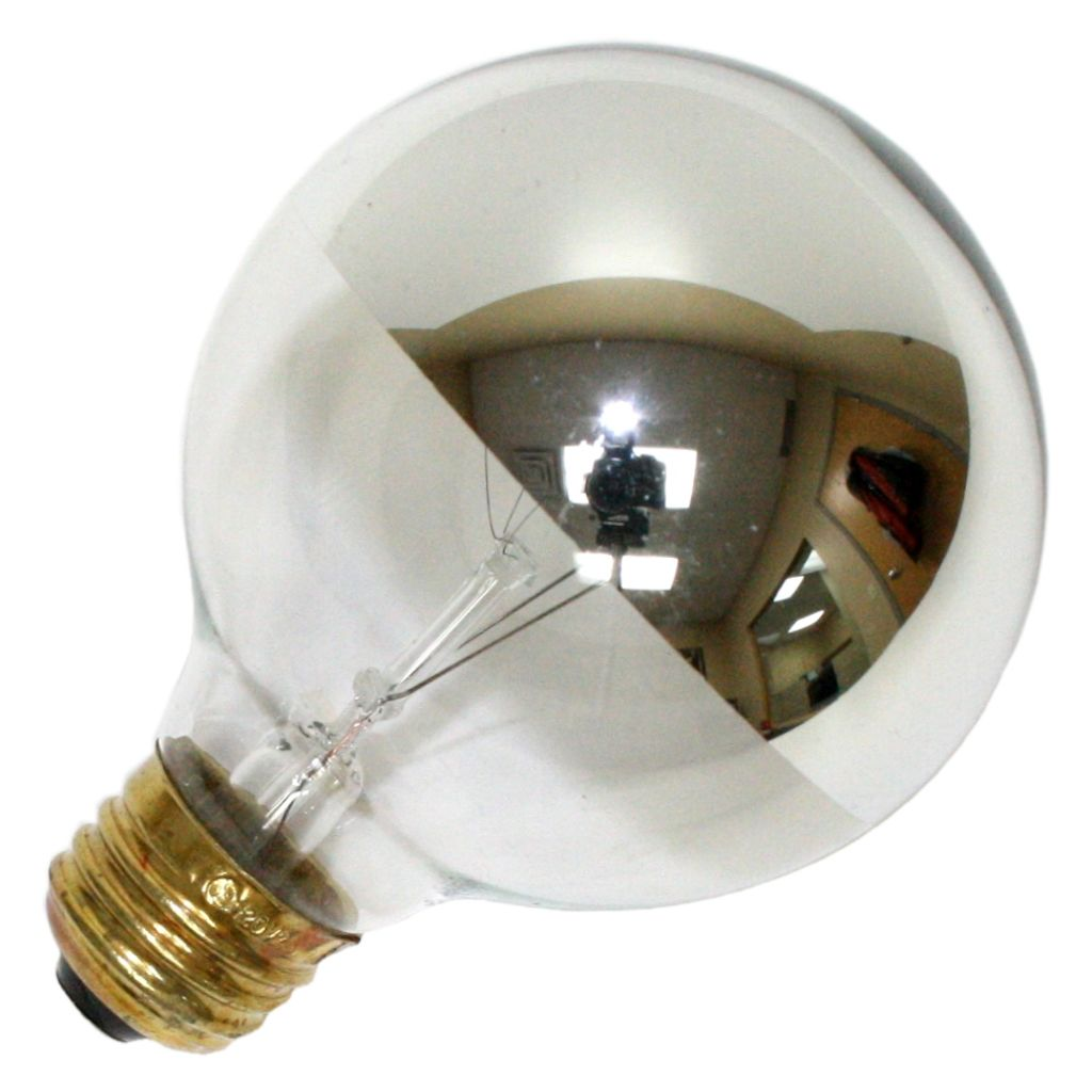 60 Watt 120 Volt G25 Medium Screw Base Clear Silver Light Bulb Bowl Light Incandescent Light Bulb