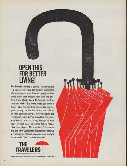 1960 Travelers Insurance Vintage Ad Better Living Travel