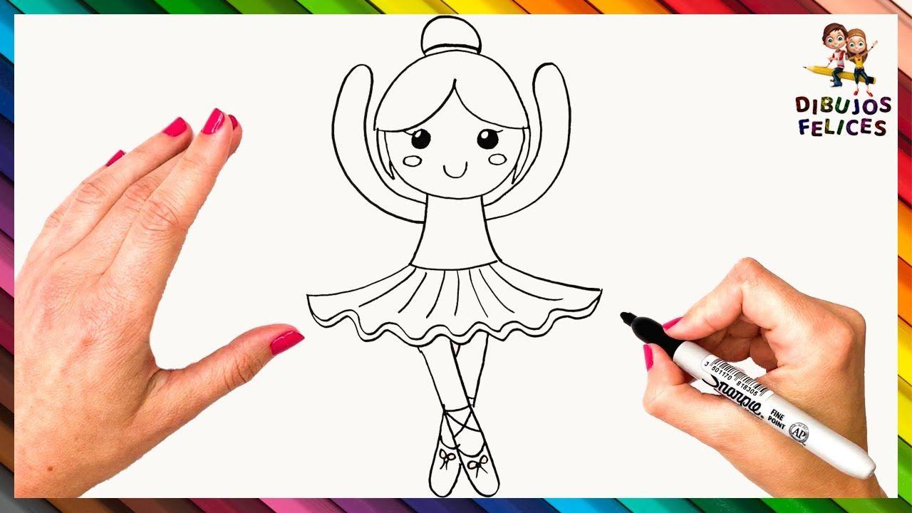 Como Dibujar Una Bailarina Paso A Paso Dibujo De Bailarina Bailarina Dibujo Imagenes De Bailarinas Dibujos De Profesiones
