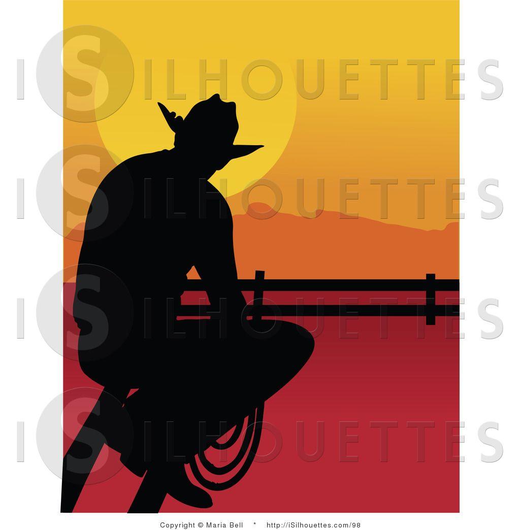 Cowboy Silhouette Clip Art | Silhouette Clipart of a Cowboy ...