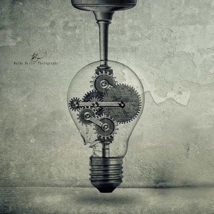 The Birth Of An Idea By Marko Beslac Art Work Lightbulb Tattoo Light Bulb Drawing Tattoo Designs Men