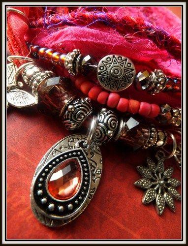 IndigoEarth~ Sacred Road~ Gypsy Wrap Bracelet