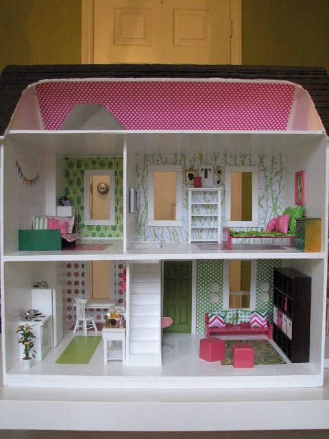Call Me Badger- VERY cute dollhouse! I especially love the cuckoo clock, the tree in the kitchen, the sparkly shingles on the roof