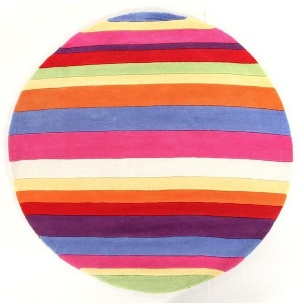 Candy Stripe Round Floor Rug Available At Kids Mega Mart Online Australia