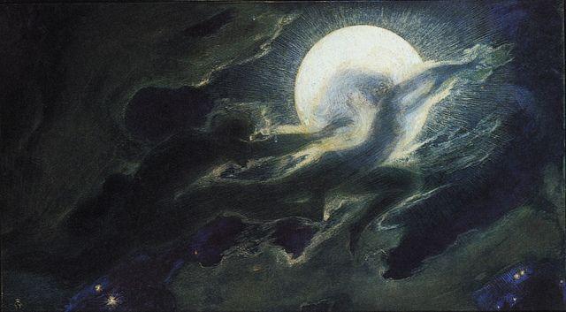 """Richard Riemerschmid (1868-1957) - """"Wolkengespenster I"""" (Cloud ghosts I), 1897"""