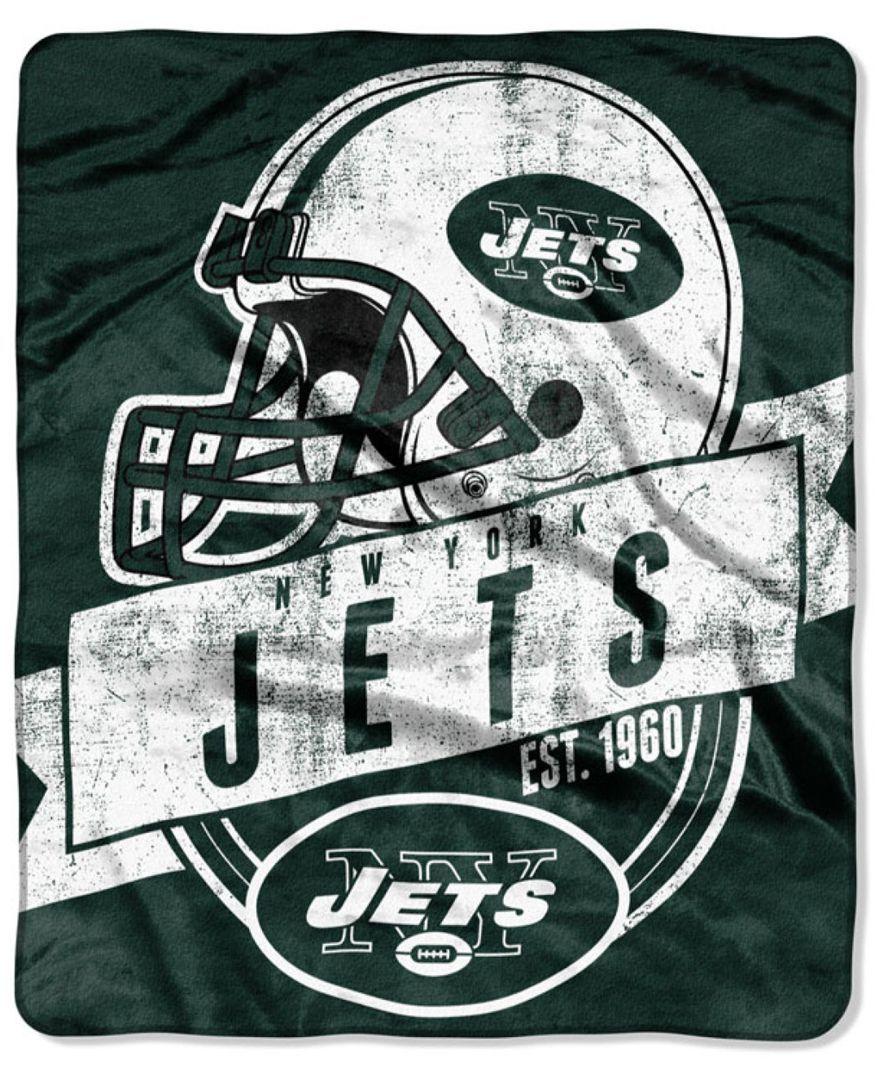 Northwest Company New York Jets Grand Stand Plush Throw Blanket