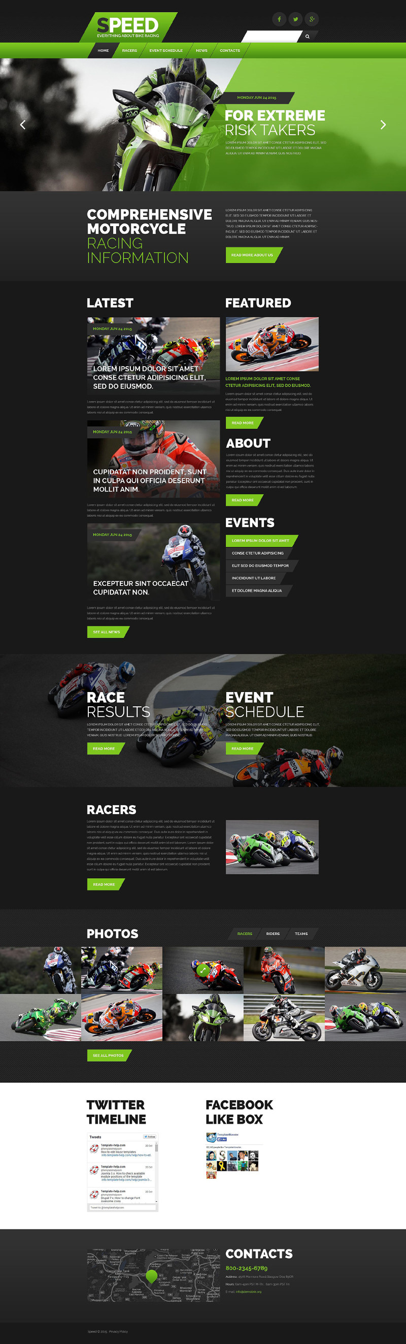 Motor Racing Website Template