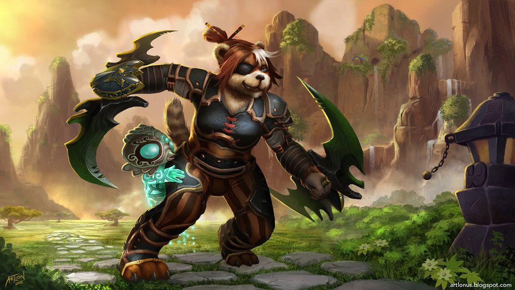 Pandaren Monk Hisui by artlon on DeviantArt Warcraft