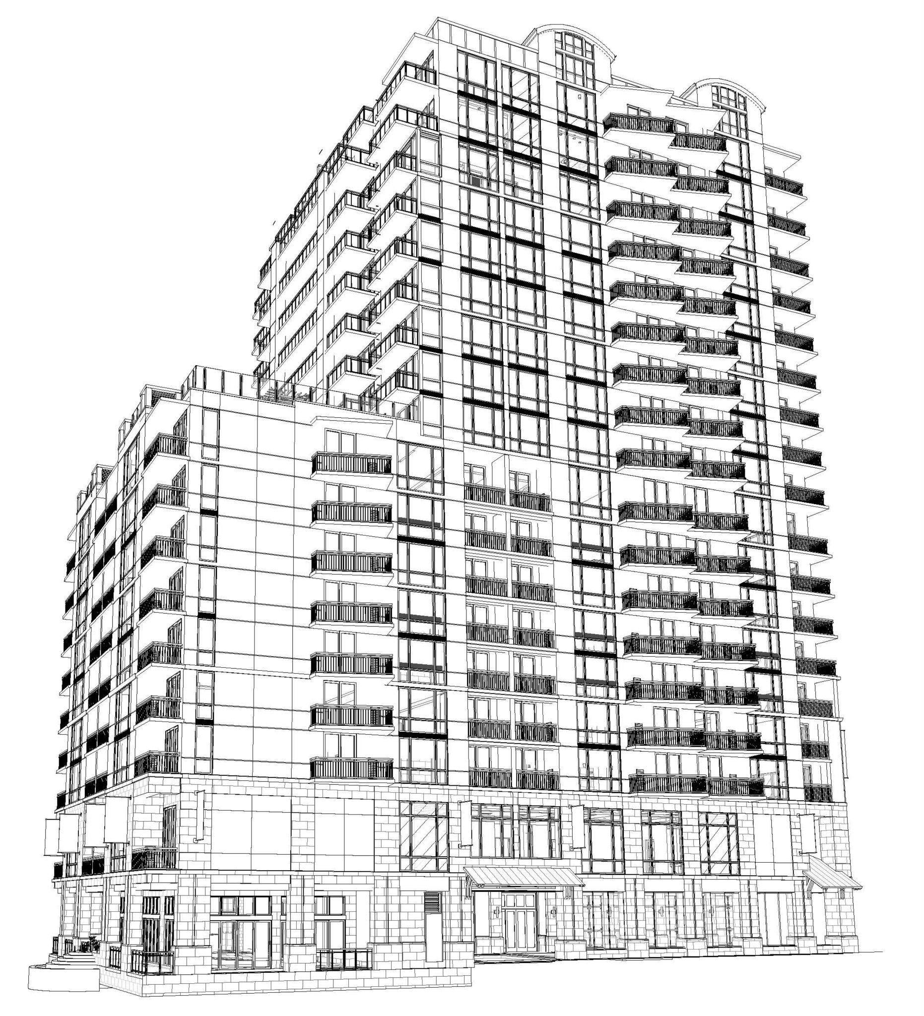 3D Rendering (19 floors) - Ocean Beach Hotel - Virginia Beach, Virginia - Systems design and drafting by CHDrafting