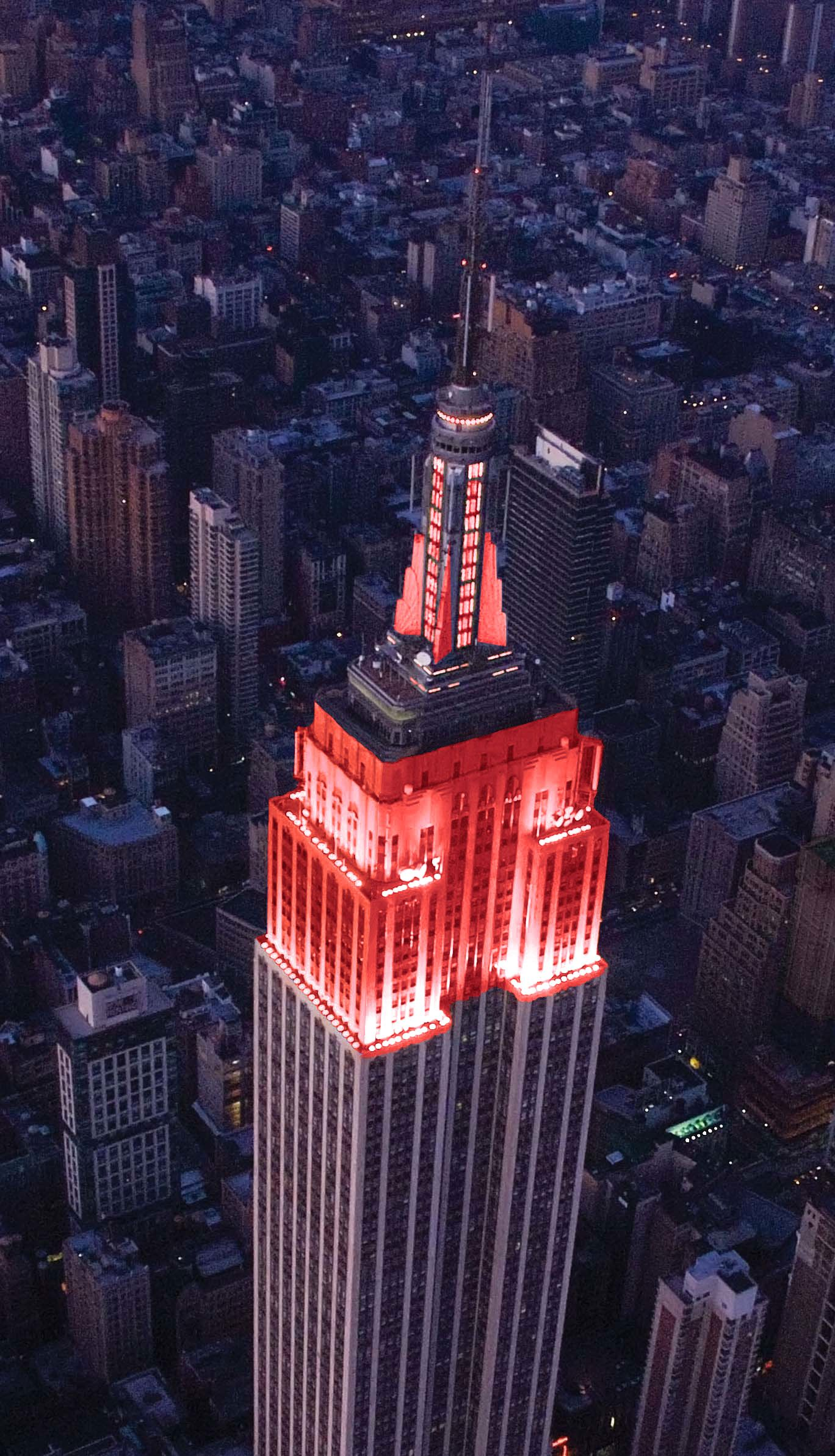 Empire State Building Showing ' Support Women' Heart Health York City
