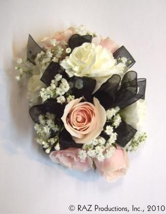 wrist corsage for homecoming for black dress | Wrist corsage ...
