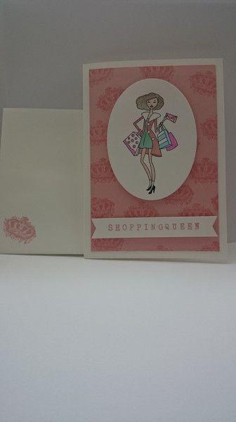 Geburtstag Geburtstagskarte Shopping Queen Rosa Ein