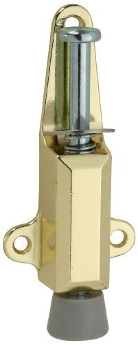 National Hardware V811 Door Stop Lock In Brass 5 84 Save 4 13 Metal Door Door Stop Hardware