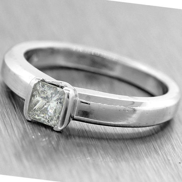 5100 Movado Platinum 50ctw F VS1 Solitaire Diamond Vintage
