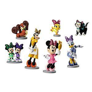 Disney Minnie Mouse Bowtoons Figurine Set Disney Storeminnie