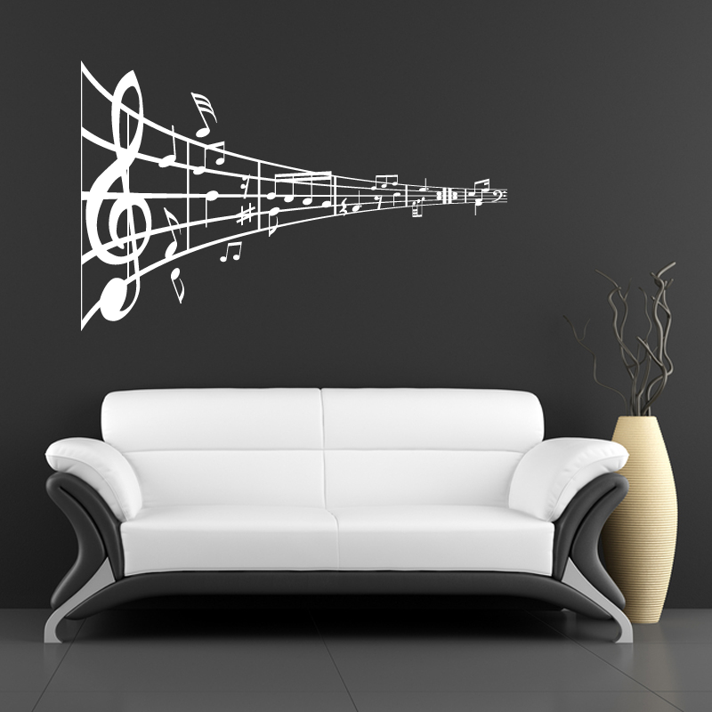 Music Applique For Walls | Tweet Music Symbol Sticker Wall Stickers From  Abode Wall Art