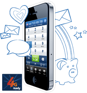 Download our free 4G ready iPhone app to make cheap