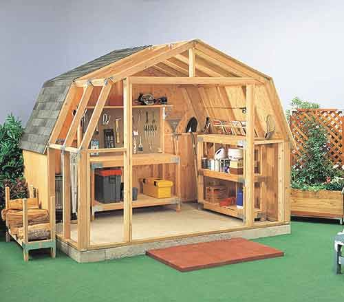 Awesome Gambrel Roof Sheds Plans How Build Step Here Are Construction Help Your Own Awesome Ideas