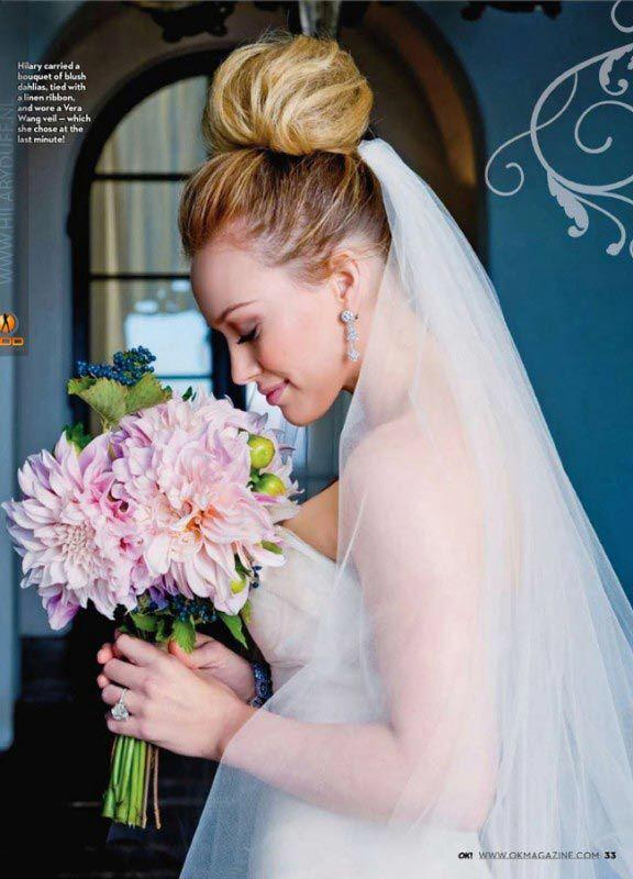Hilary Duff Wedding Glamorous Wedding Hair Wedding Bun Hairstyles Wedding