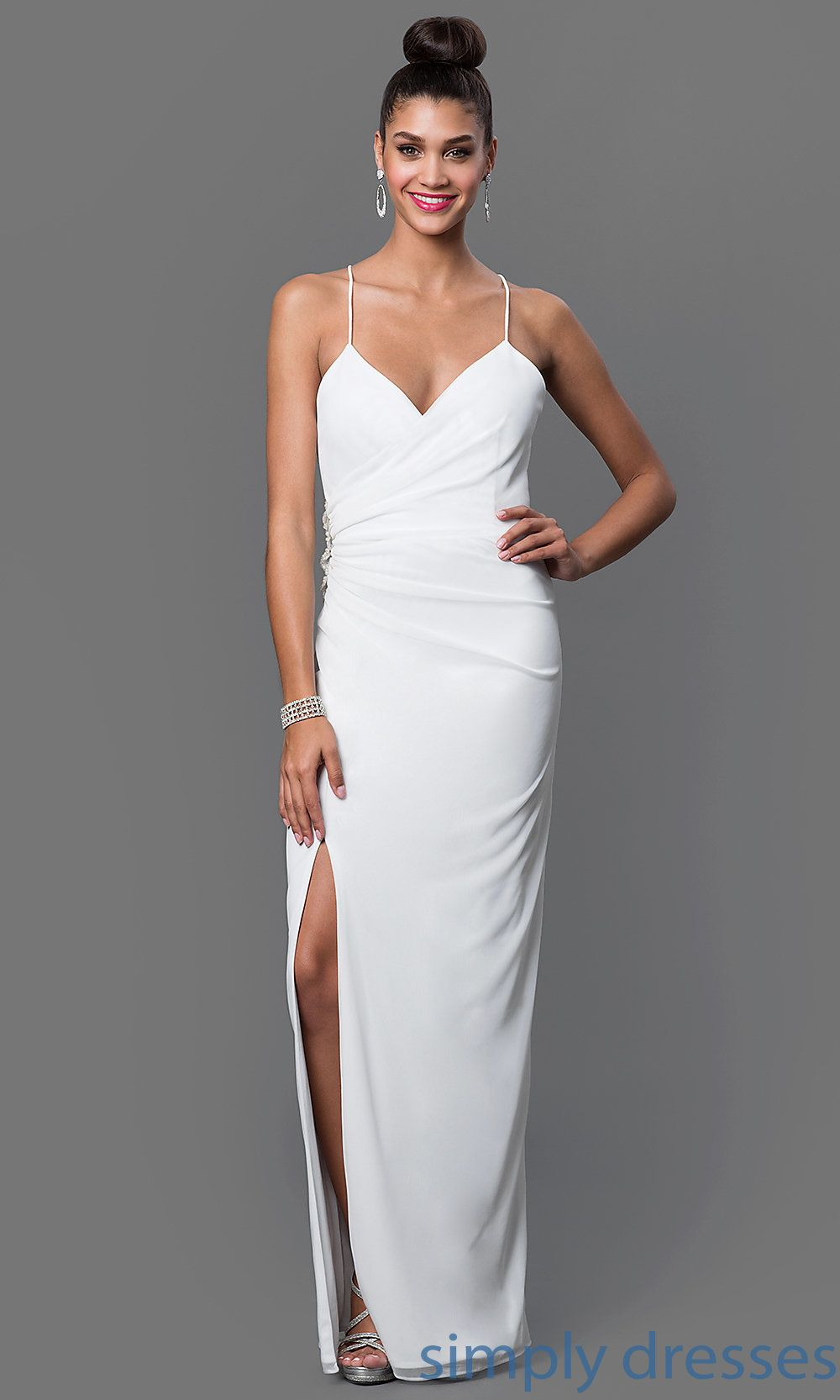 Onyx Long Spaghetti Strap Ruched Formal Gown Ju On 644728 Making A