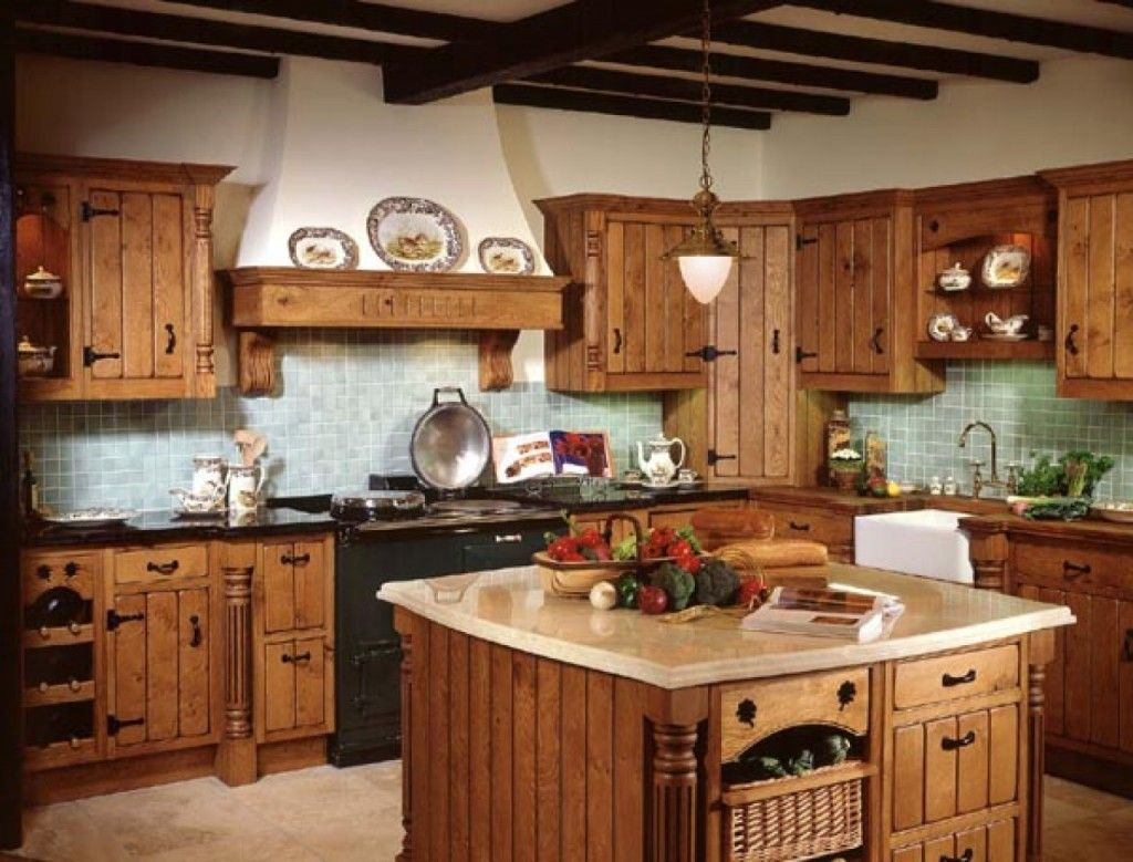 small country kitchen decorations. i like the color wood for the ...