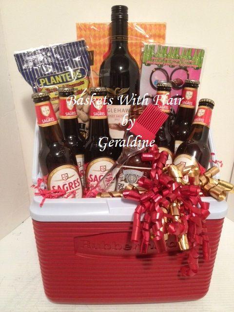 Summer Cooler Gift Basket Gift Ideas Pinterest