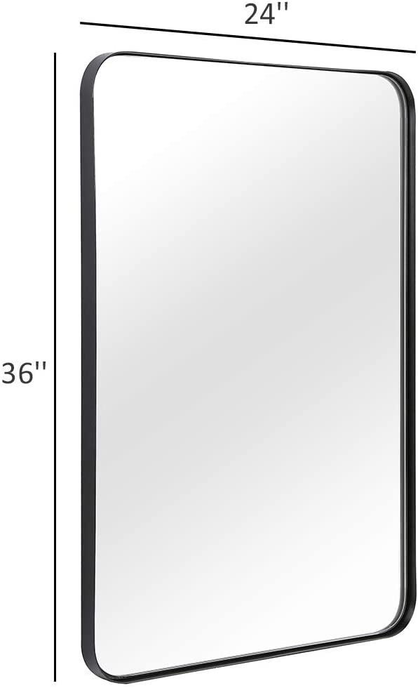Amazonsmile Andy Star Wall Mirror For Bathroom Mirror For Wall With Black Metal Frame 22 X 30 De Mirror Wall Bathroom Framed Mirror Wall Black Wall Mirror