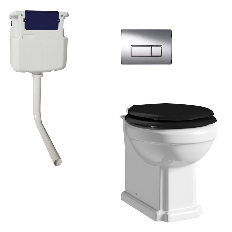 Prime The Bath Co Dulwich Back To Wall Toilet With Black Soft Spiritservingveterans Wood Chair Design Ideas Spiritservingveteransorg