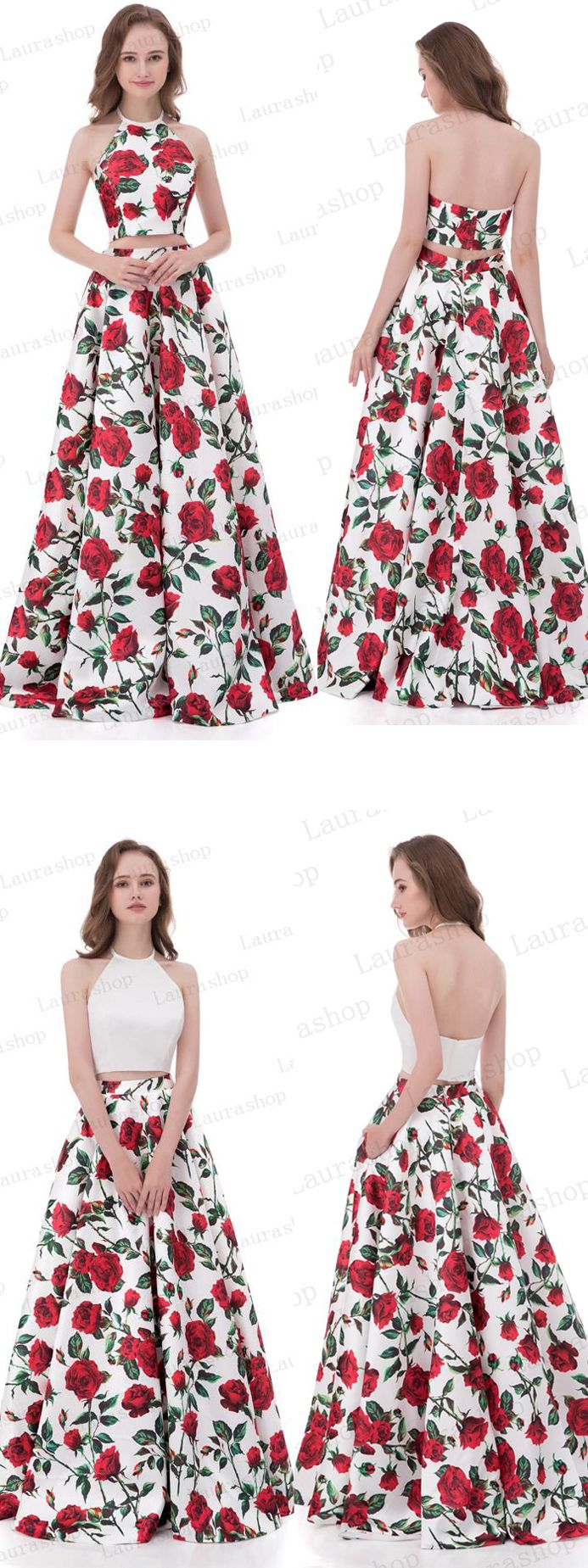 New arrival pieces printed fabric red rose prom dresses evening