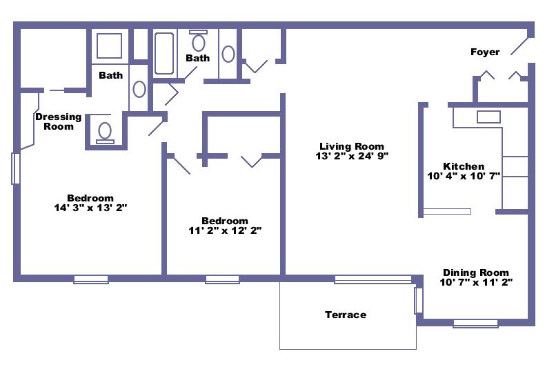 Amazing 1000 Square Foot 2 Bedroom House Plans Part - 8: 2 Bedroom 1200 Sq Ft House Plans - Google Search