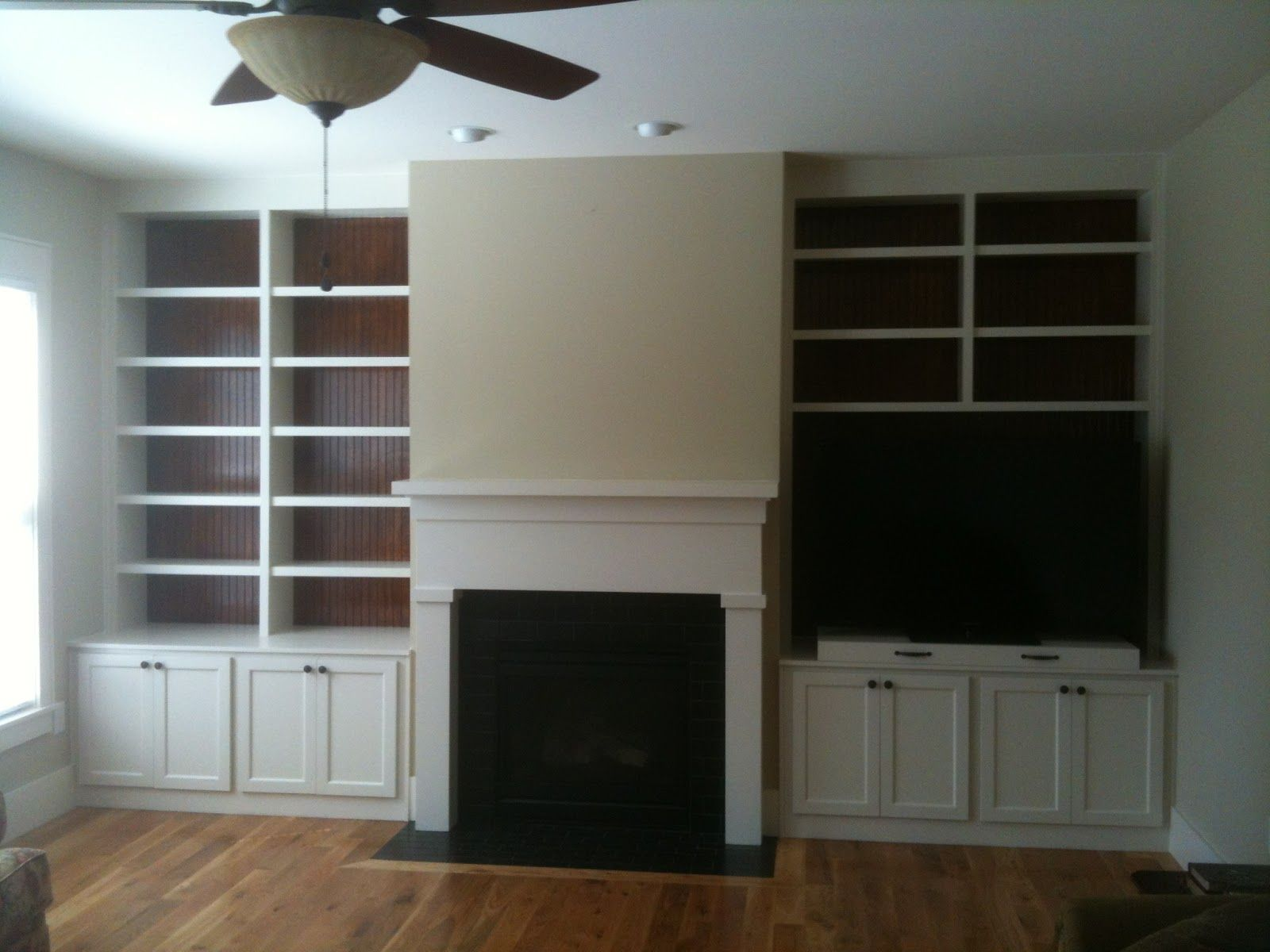 Fireplace with built in bookshelves google search place for