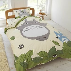 Studio Ghibli Neighbor Totoro Duvet Comforter Cover Fitted Sheets Set | eBay                                                                                                                                                                                 Más