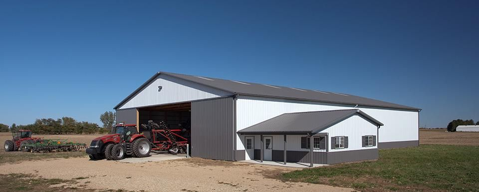 Machine Storage Lee County Amboy Illinois Shed Sizes Farm Buildings Barn Layout